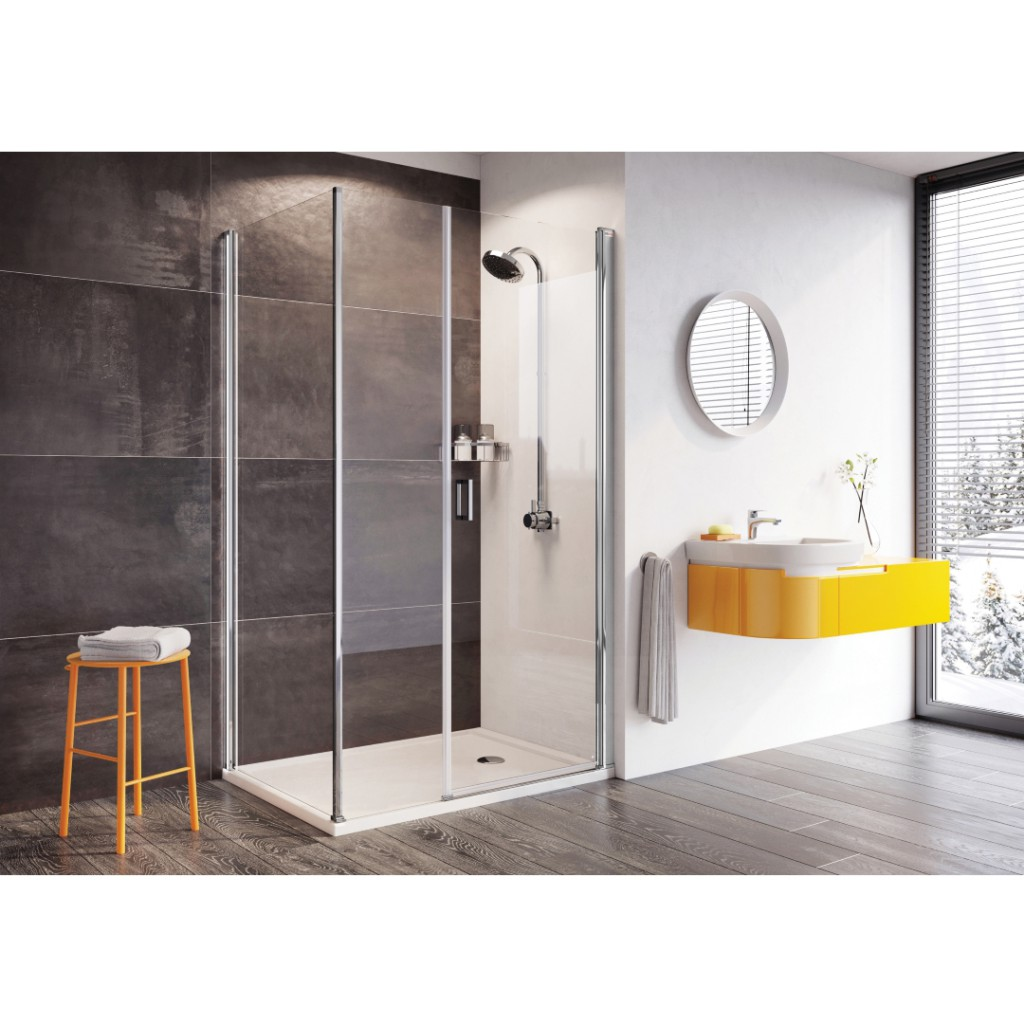 Roman Showers Innov8 Pivot Door With In Line Panel Shower Enclosure
