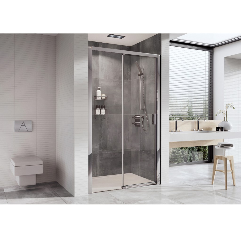 Roman Showers Embrace Level Access Sliding Door Shower