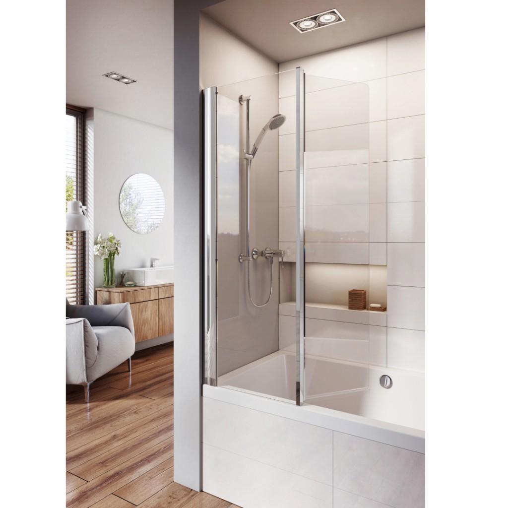 Roman Showers Lumin8 Inward Folding Bath Screen
