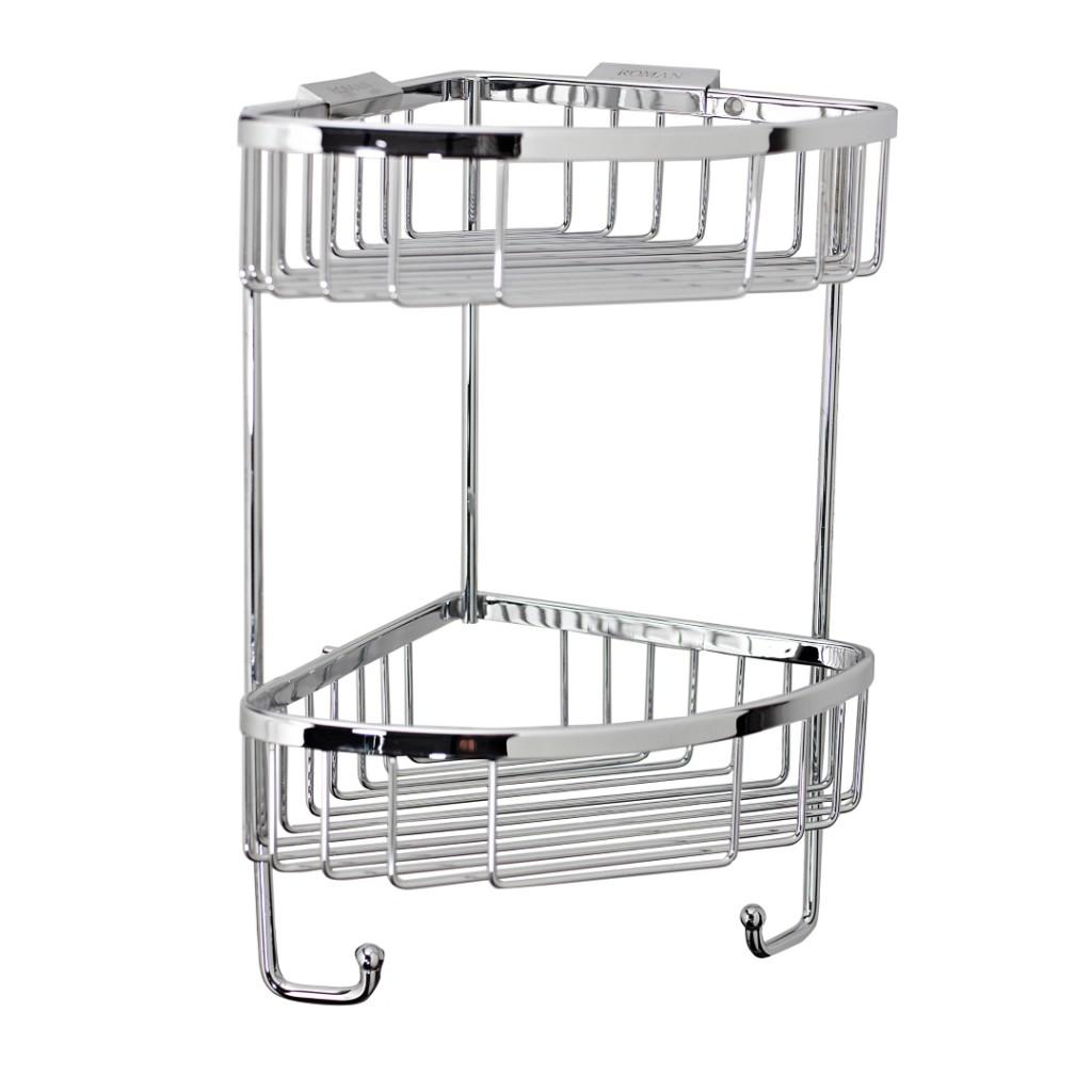 Roman Showers Double Corner Shower Basket with Hooks RSB05 - Baker ...