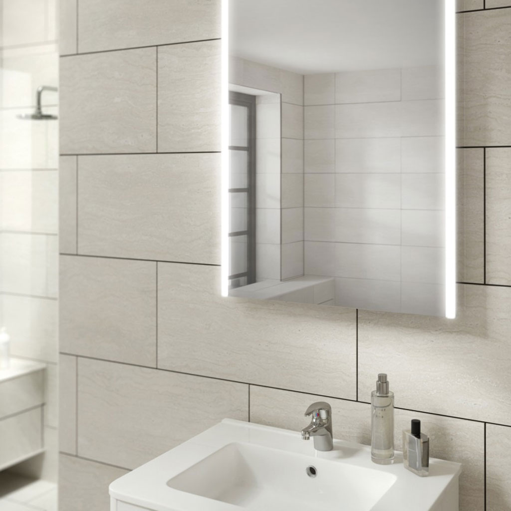 Hib bathroom mirrors led mirrors illuminated mirrors baker and soars -  Rechargeable Mirrors 11 Led Mirrored Sides Diffused Lighting