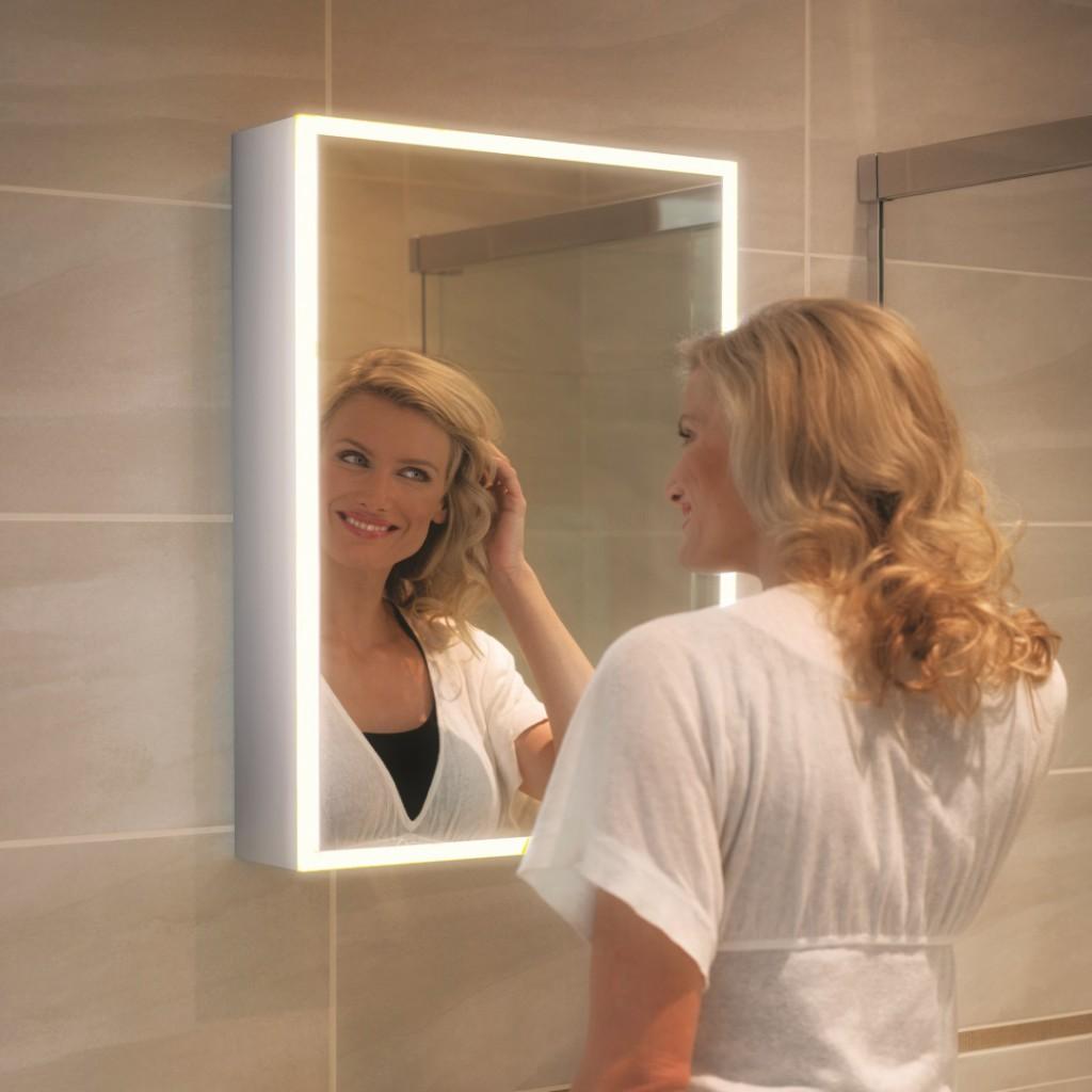 HiB Qubic 50 LED Cabinet Mirror 46400