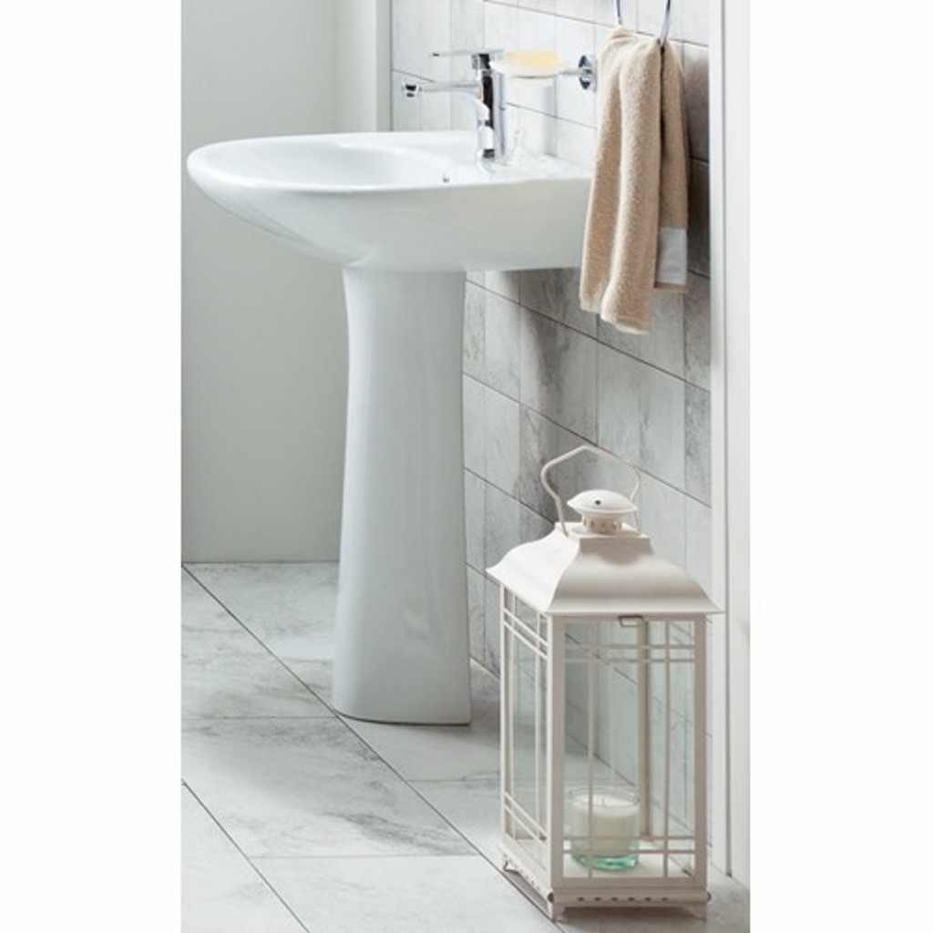 Creavit Pitta Washbasin with Full Pedestal PA055 -...