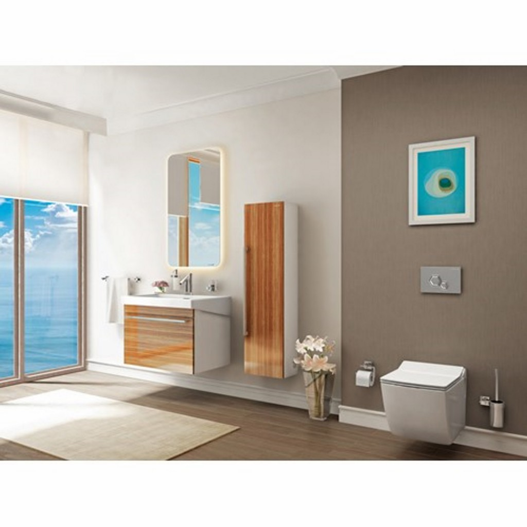 Creavit Epic 80 Set - Washbasin, Mirror and Wall Hung...