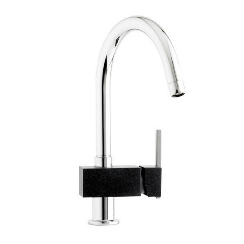 Mayfair Capri Chrome-Black Kitchen Sink Mixer KIT283